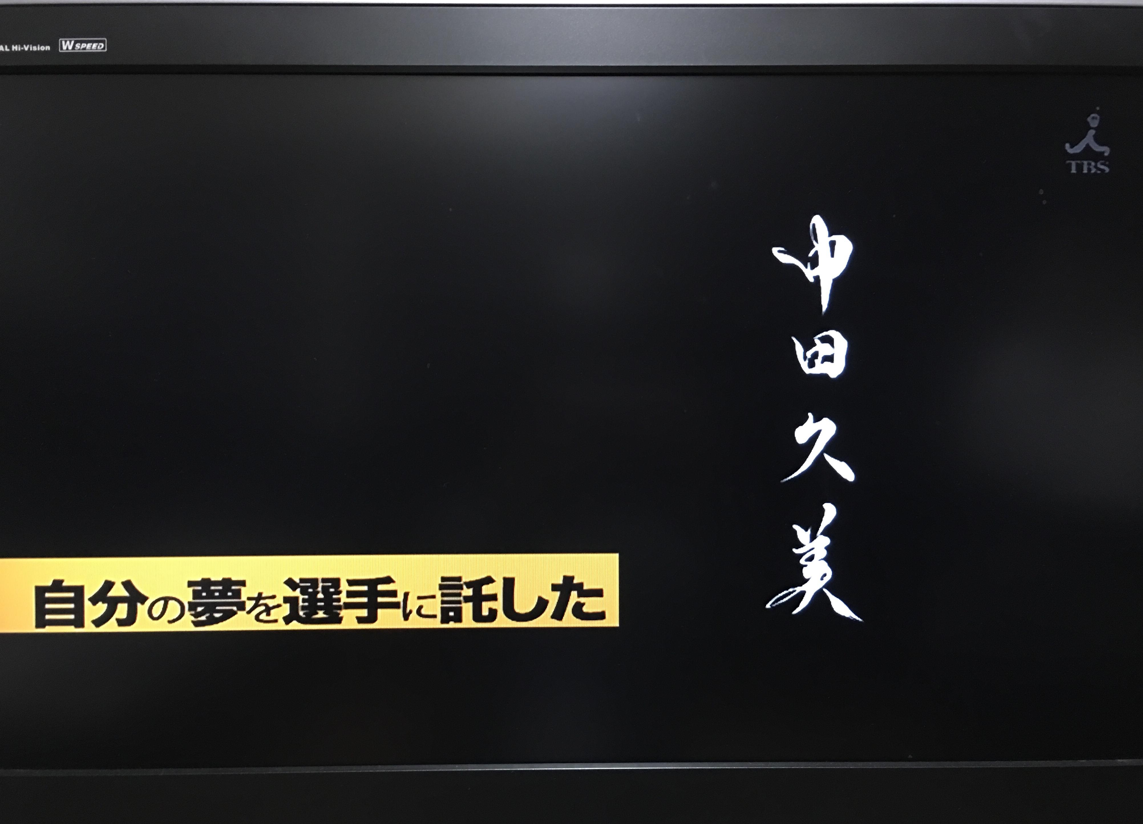 TBSテレビ「2018 世界バレー」事前番組使用作品『中田久美』