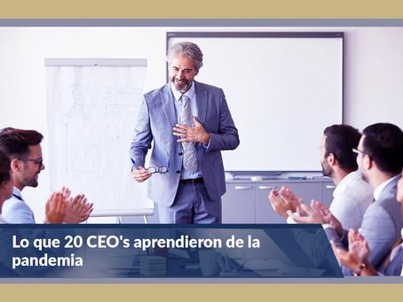 Lo que 20 CEO's aprendieron de la pandemia