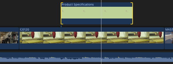 Snapshot for fcpx timeline with free plug-in PRODUCT SPECIFICATIONS