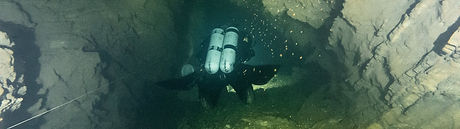 An image from wreck with one diver