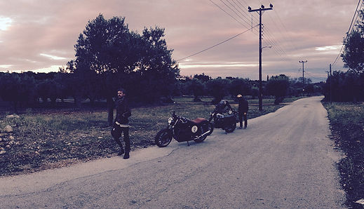 Image with two cafe racer bikes