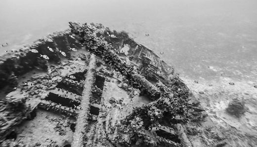 Black and White image from wreck