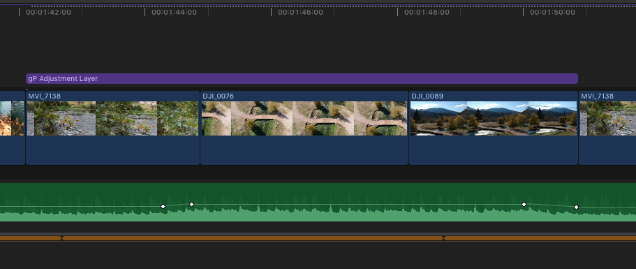 Snapshot for fcpx Timeline with free gP Adjustment Layer plug-in