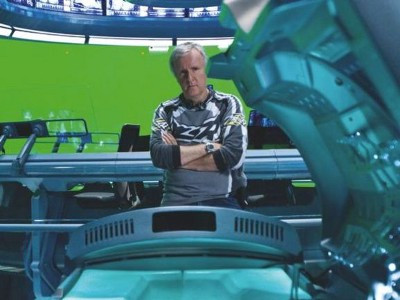James Cameron from Avatar shooting days