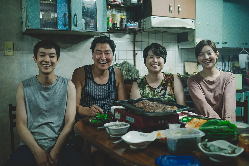 The Kim family from Parasite movie