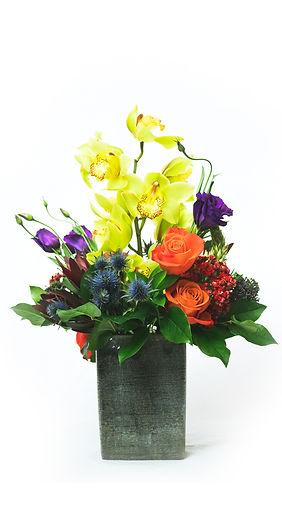flower-arrangement-rose-orchid-yarrow-in-vase