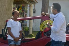 Campeões mundiais de kite recebem Vitor Valim, no Cauípe