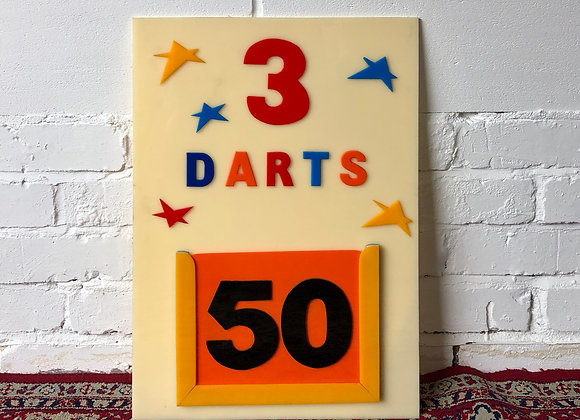 Fairground Darts Sign