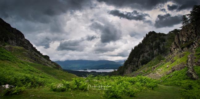 Lake District, View down to Derwent Water