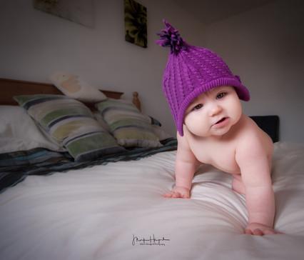 Ellie purple hat