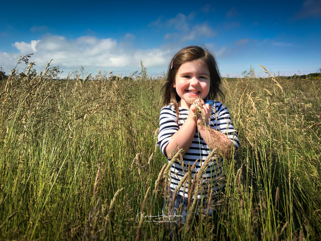 Ellie in the long grass