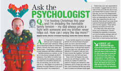 Ask the psychologist on Christmast