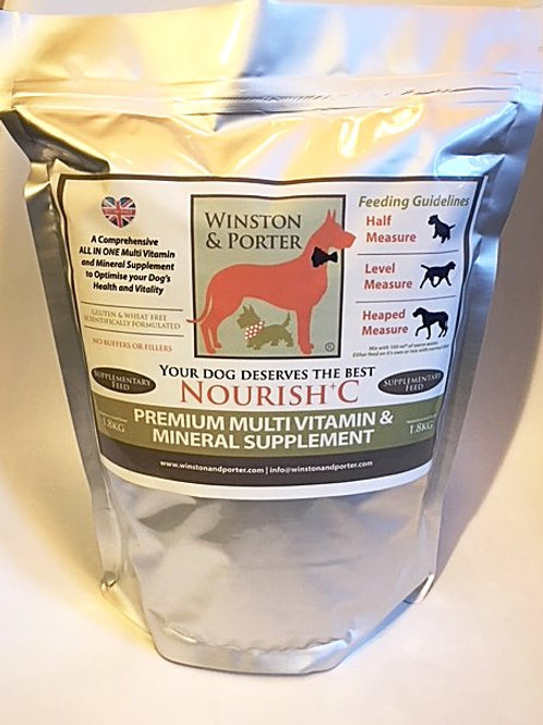 Nourish + C Premium Multi Vitamin & Mineral ALL IN ONE Dog Supplement From