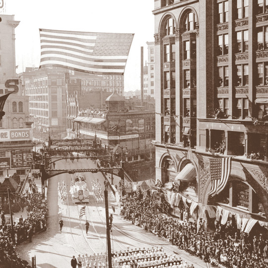 Parade Welcoming Home WWI Veterans