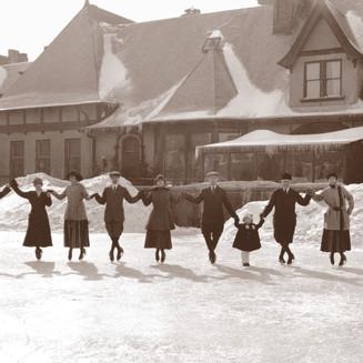 Ice Skating at the Town Club