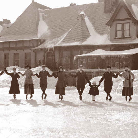 Ice Skating at the Town Club