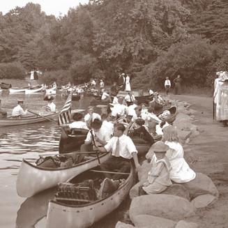 Canoes at Riverside Park