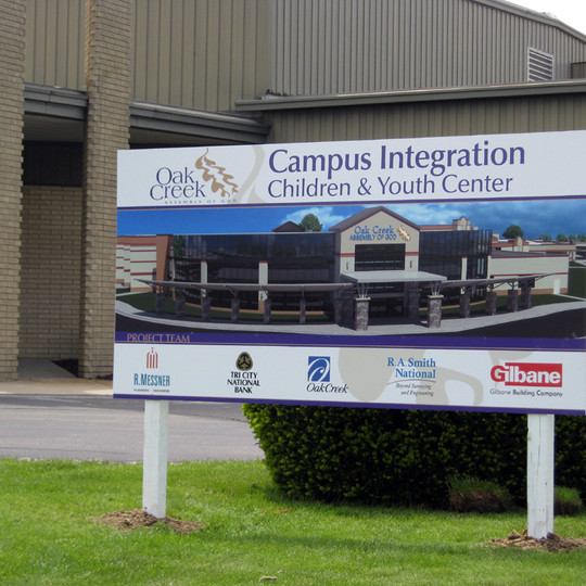 Gilbane Oak Creek Sign