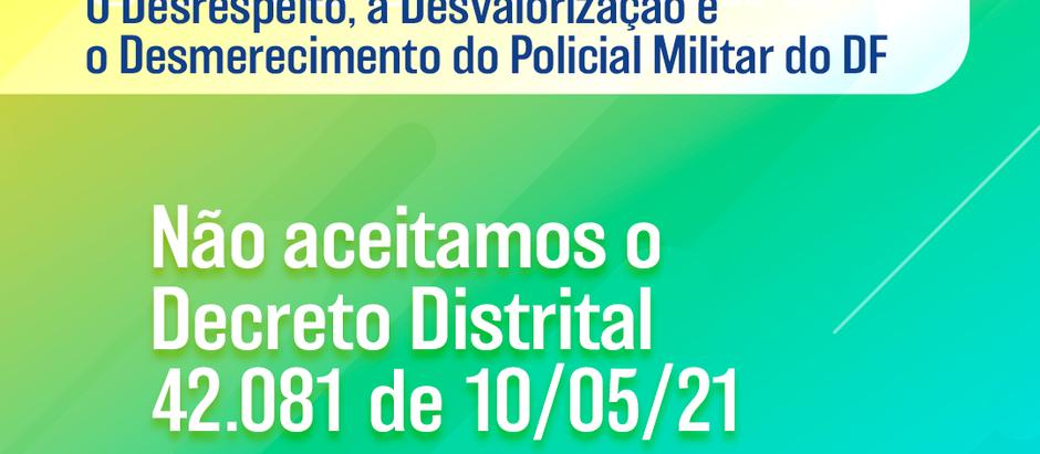 Nota Pública do Fórum das Associações Representativas de PMs e BMs contra o Decreto Distrital 42.081