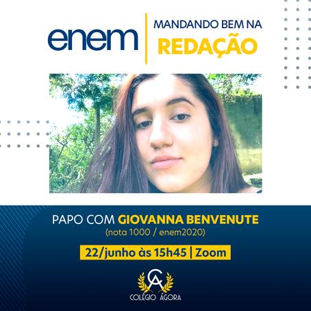 Mandando Bem no ENEM | Redação: dicas com Giovanna Benvenute (nota máxima na redação 2020)