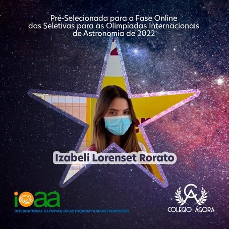 Aluna do Ágora vai para a fase das seletivas para as Olímpiadas Internacionais de Astronomia 2022
