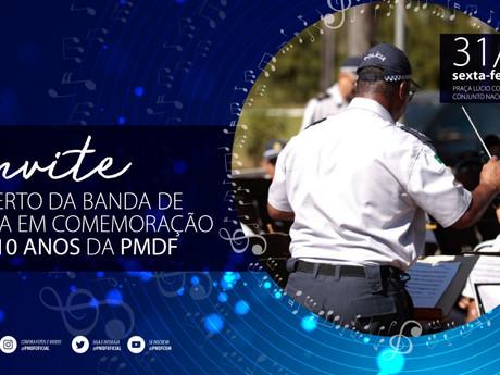Praça Revitalizada do Conjunto Nacional recebe hoje Banda da PM