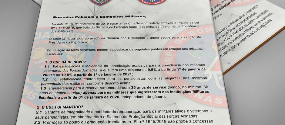 PMMG e CBMMG publicam comunicado anunciando prorrogação do direito adquirido e regra de transição