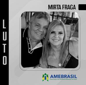 Falecimento de Mirta Fraga, esposa do ex-deputado Cel. Alberto Fraga