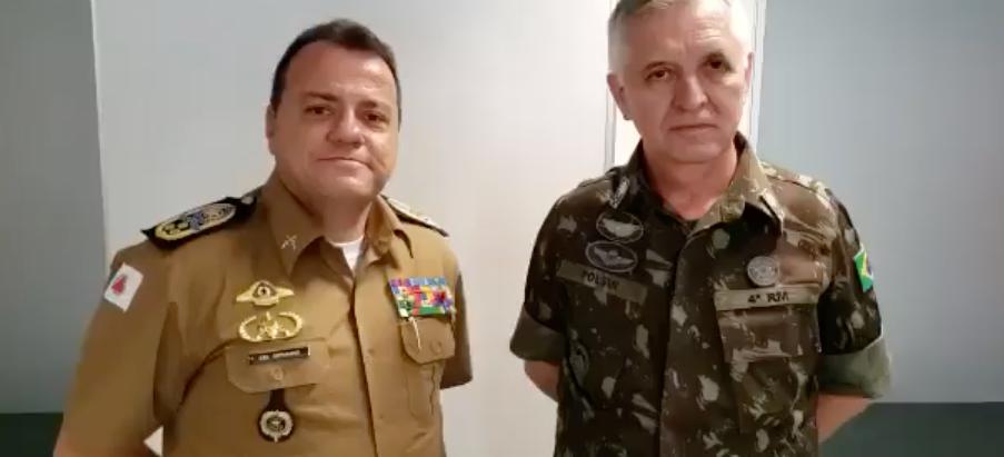 PM/MG recebe visita do Exército para troca de experiências sobre segurança pública mineira