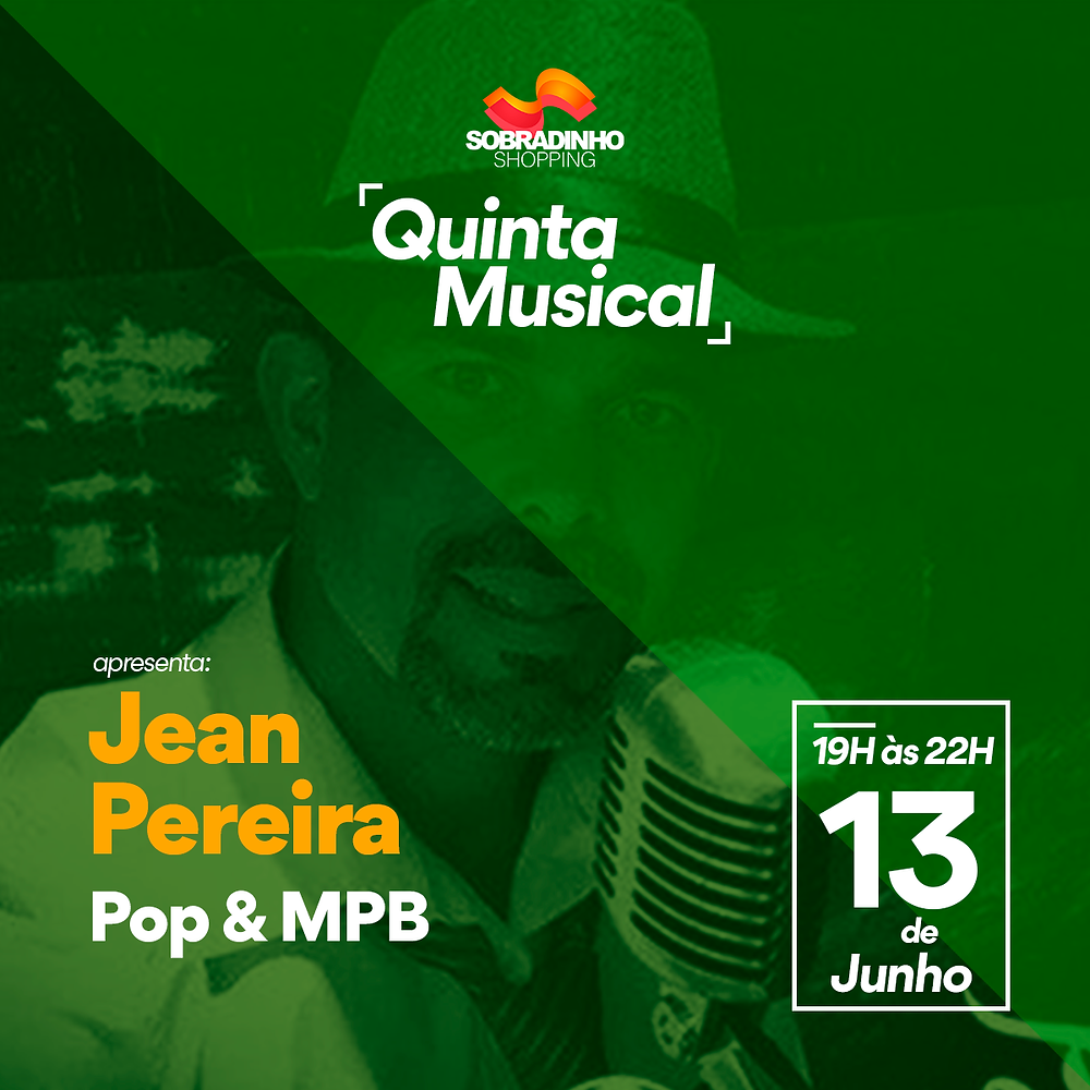 Músico Jean Pereira - Quinta musical Sobradinho Shopping
