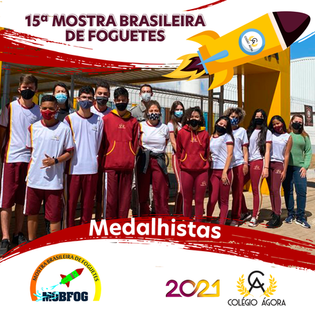 Medalhistas da 15ª Mostra Brasileira de Foguetes (MBFOG)