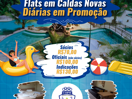 Nossos Flats em Caldas Novas com Diárias em Promoção até o final de janeiro de 2020