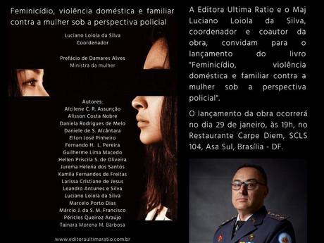Convite para o Lançamento do Livro Feminicídio, obra sob a perspectiva policial