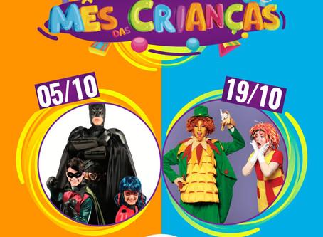 Outubro com atrações super legais para a criançada