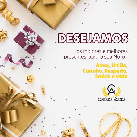 Desejamos os maiores e melhores presentes para o seu Natal