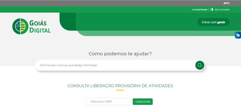 Goiás Digital: confira se sua atividade comercial está liberada