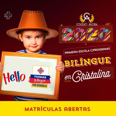 Novidades 2020: Programa Bilíngue Thomas for Schools no ÁGORA