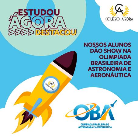Show de medalhas na Olimpíada Brasileira de Astronomia e Aeronáutica