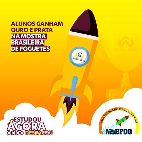 Projetos de foguetes de alunos do Ágora ganham medalhas de ouro e prata