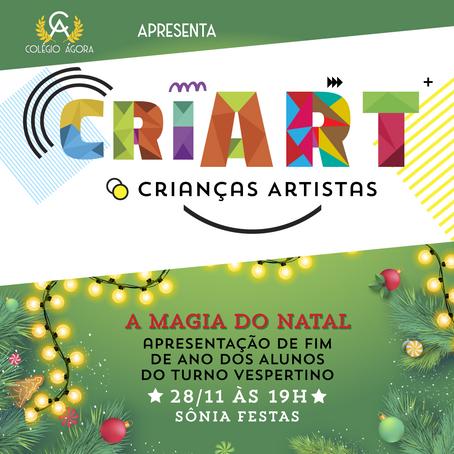 Colégio Ágora apresenta o CRIART: crianças artistas