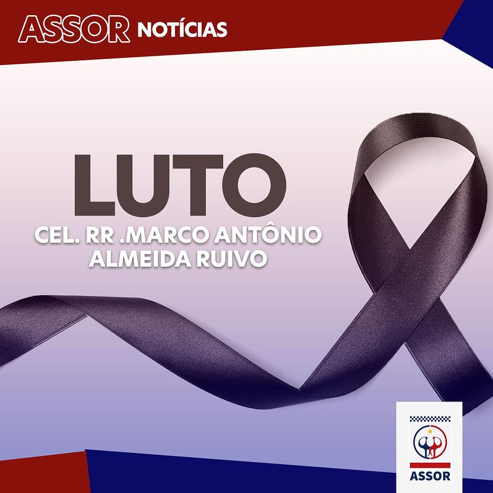 Nota de falecimento do Cel. RR Marco Antônio Almeida Ruivo