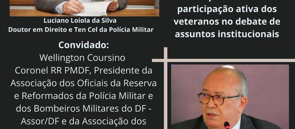 Participação de Veteranos nos assuntos das instituições militares será debatido em Live (27/11)