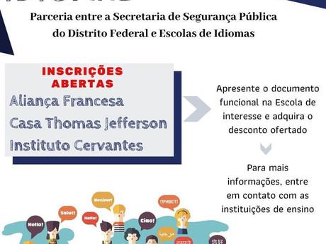 Aprenda Inglês, Francês e Espanhol com convênio firmado pela SSP/DF