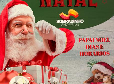 Dias e Horários do Papai Noel no Sobradinho Shopping