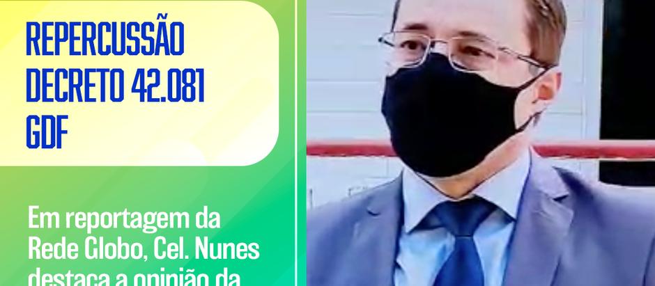 Rede Globo entrevista AMEBRASIL sobre repercussão negativa do decreto 42.081 (GDF)