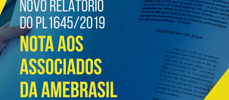 PL1645/2019 - Nota aos Associados da AMEBRASIL