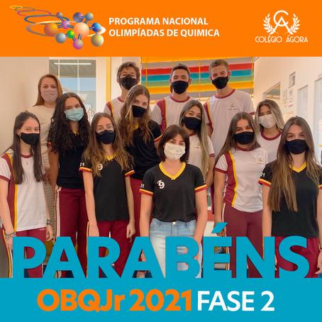Alunos do Ágora vão para a 2ª fase da Olimpíada Brasileira de Química Jr Edição 2021