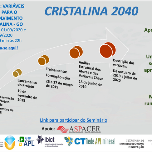 Projeto Cristalina 2040 avança para uma nova fase, primeira reunião aberta é amanhã, 25/08