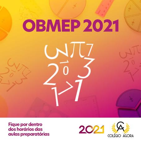 Vem aí a OBMEP 2021! Confira os horários das aulas preparatórias.