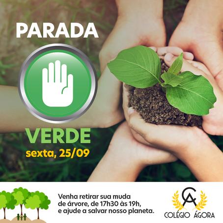 Parada Verde para celebrar a semana da árvore (21 a 25/09)